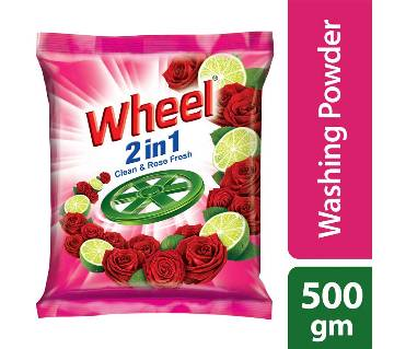 Wheel Washing Powder 2in1 Clean & Rose -500g