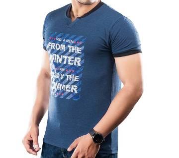 Winner Mens S/S T-Shirt - 43573 - BLUE MELANGE