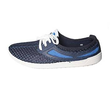 Fortuna Bangladesh Navy Blue Canvas Sneakers for Men