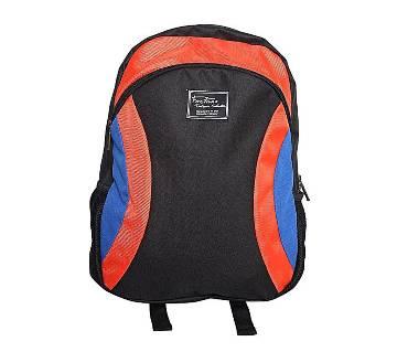 Fortuna Bangladesh Black and Orange Canvas Backpack for Men