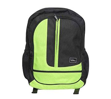 Fortuna Bangladesh Black and Lime Canvas Backpack for Men