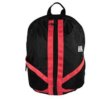 Fortuna Bangladesh Black and Red Canvas Backpack for Men