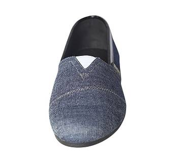 Fortuna Bangladesh Navy Blue Fabric Loafers for Men