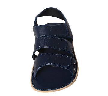 Fortuna Bangladesh Navy Blue Leather Sandals for Men