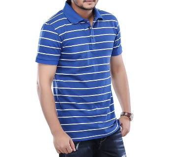 Winner Mens Polo shirt - 37918 - BLUE STRIPE
