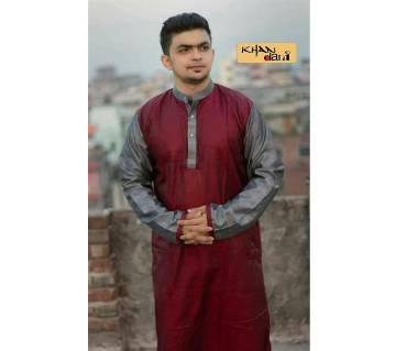 semi long silk panjabi
