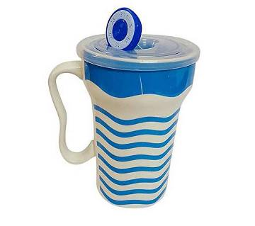 Lovely Wavy Ceramic Juice & Coffee Mug - Blue