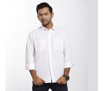 Grameen UNIQLO Linen Double Pocket Shirt (L)