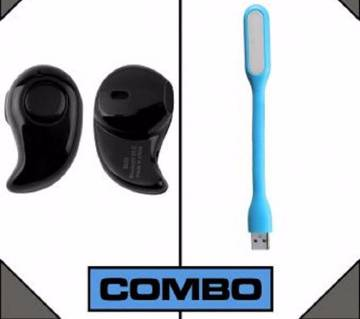 Combo of Bluetooth Headphone + USB Light