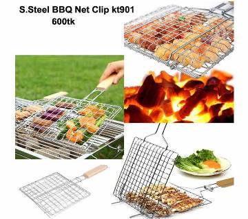 Portable BBQ Grill Net Clip - Silver