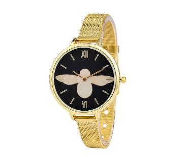 Gold Mesh Belt Multi Face Trendy Quartz Charming Cheap Hand Watch