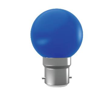 Super Star AC LED 0.5W BLUE B-22 COLORLUX ROUND