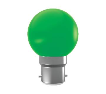 Super Star AC LED 0.5W GREEN B-22 COLORLUX ROUND