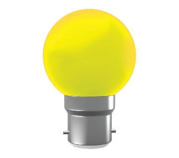 Super Star AC LED 0.5W YELLOW B-22 COLORLUX ROUND
