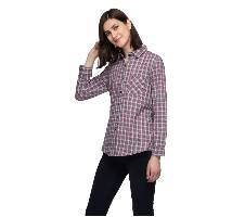 One Femme Women's Cotton Plaid Full- Sleeve Shirt (by One Femme - OFTPF019MCRR015R) - Large বাংলাদেশ - 6982833