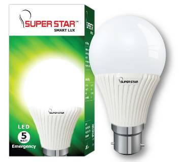 Super Star LED SMART LUX BULB 5W Emergency B22