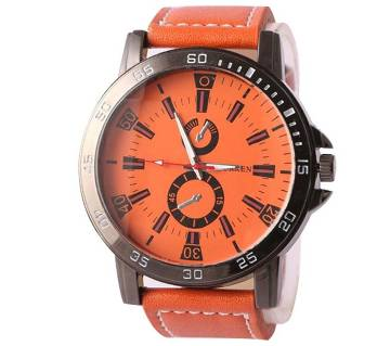 CURREN MENS WRIST WATCH - ORANGE (COPY)