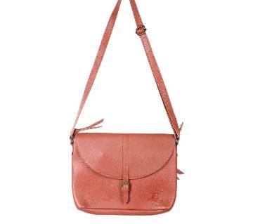Ladies Brown Leather Side Bag