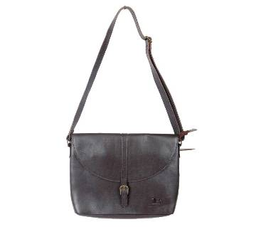 Ladies Chocolate Leather Side Bag