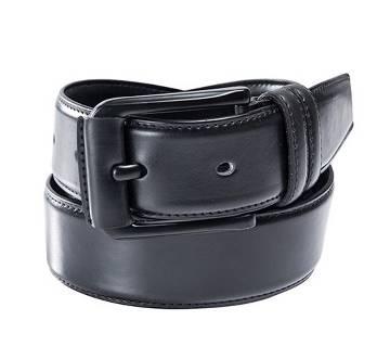 Black buckle belt for men