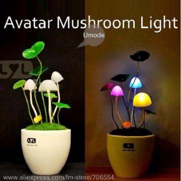 LED Mushroom Light (1Ps)