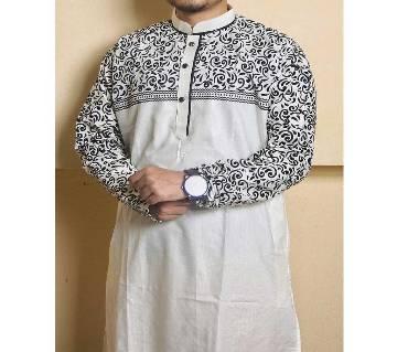premium exclusive semi long cotton punjabi for men