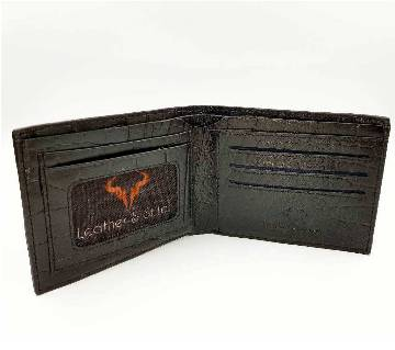 L&S Black Wallet (Bangladesh Origin Cow Finished Leather)
