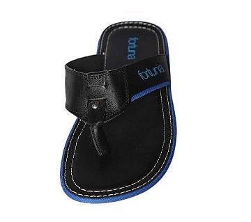 Fortuna Bangladesh Black Leather Sandals for Men