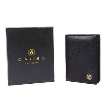 Cross ইউনিসেক্স লেদার কার্ড হোল্ডার (ব্ল্যাক)