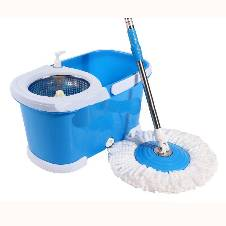 Easy Mop with wheels & stainless steel basket