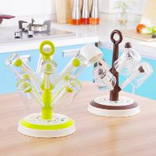 DIY Tree Shape 6 Hook 8 Hook Drain Glass Cup Holder Glass Rack