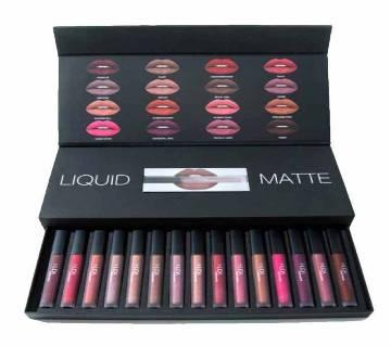 HUDA Beauty Liquid Matte Lipstick - 16 Set Box (USA)