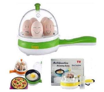 Electric Egg Boiler With Fry Pan
