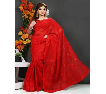 pure red muslin silk