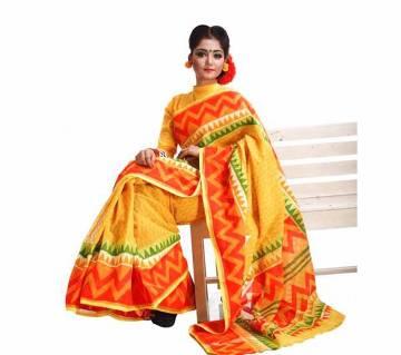 Pure Kota Silk Shree with Hand Block Work