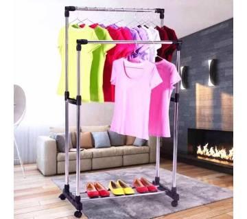 Folding double cloth & shoe rack