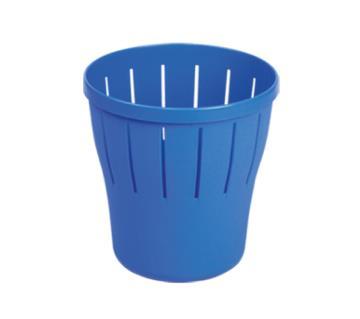 76104 Waste Paper Basket Round - SMB - Blue