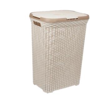 76203 Rattan Laundry Basket - Off White