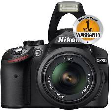 Nikon Digital SLR Camera D3200 24.2 MP 1080p Full HD Stereo