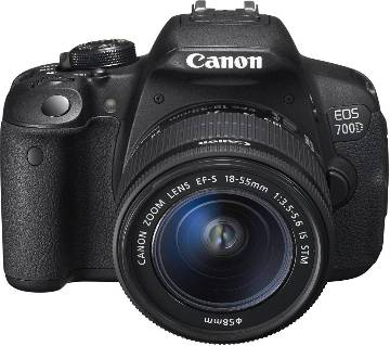 Canon EOS 700D DSLR Camera and 18-55mm EF-S IS STM Lens