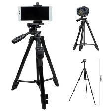 Tripod 50 inch, DMG YUNTENG VCT-5208 Lightweight Aluminum Tripod with Bluetooth Shutter + Carry Case for Mobile Phones and Cameras