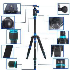 CowboyStudio BK-777 180 degree Folded Design Alu-alloy Camera Tripod Monopod with Ball Head & Carrying Bag