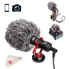 BOYA BY-MM1 Universal Cardiod Shotgun Microphone for iPhone Samsumg MAC Camera