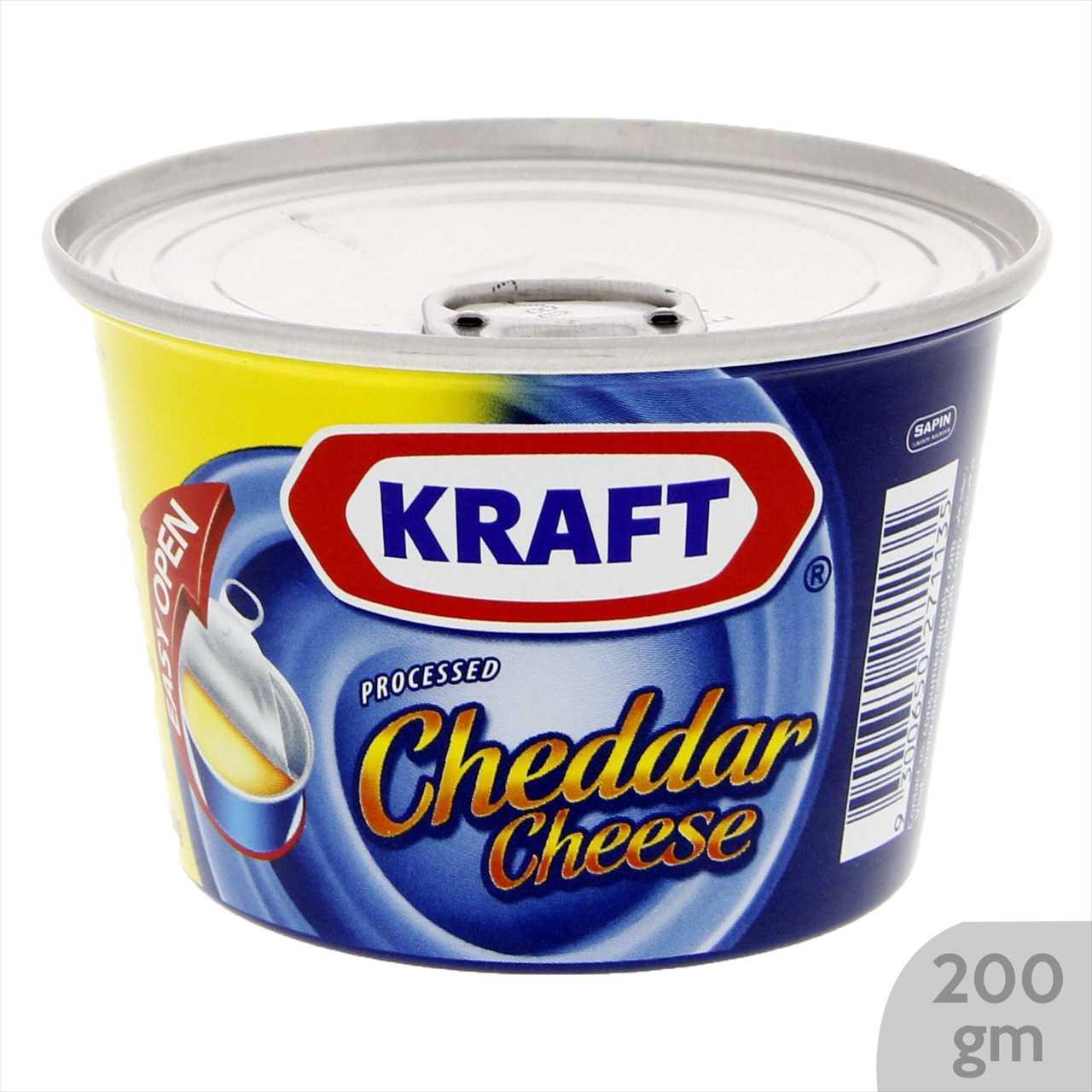 Kraft Processed Cheddar Cheese Tin 190 gm