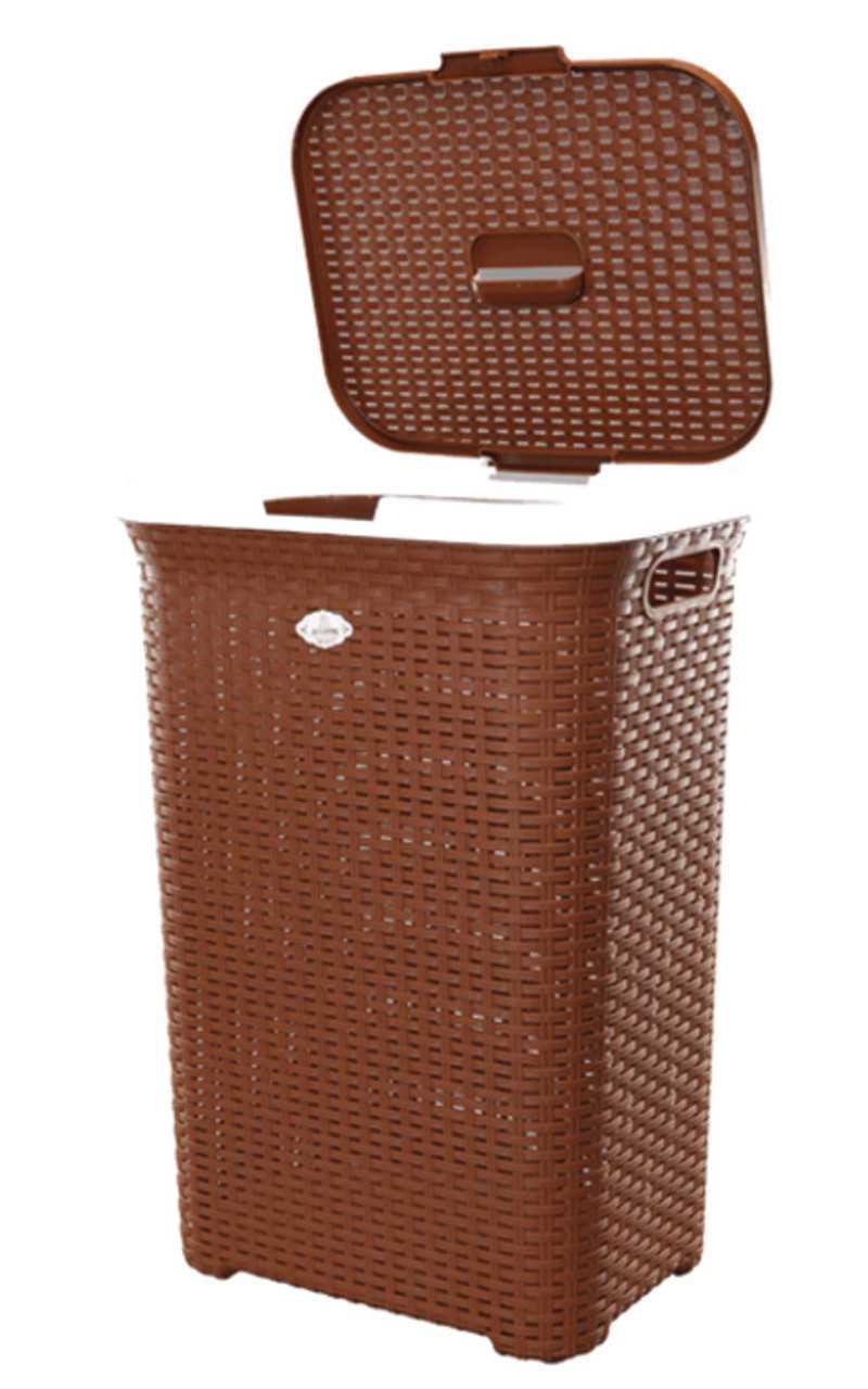 RFL Cane Laundry Brown Basket Big 1 pcs