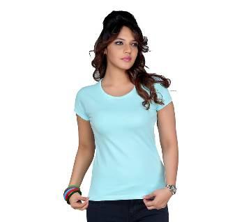 Clifton Womens Plain T-Shirt--Aqua Blue