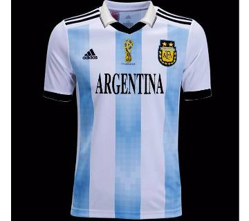 World Cup 2018 Argentina Half Sleeve Home Jersey (Copy)
