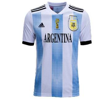 2018 World Cup Argentina Half Sleeve Home Jersey (Copy)