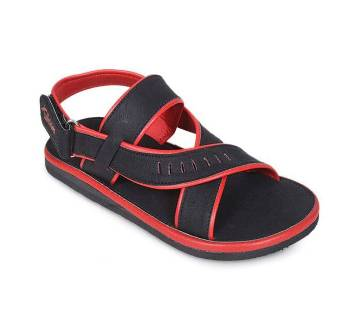 Black & Red Leather Junior Boy