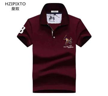 Gents half sleeve cotton polo shirt
